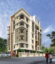 3BHK flat available for sale near Newtown in Kolkata.