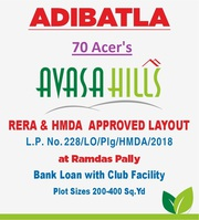Hmda Layout With Gated Community @ Adibhatla .9391366679