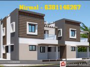 West Facing New 3Bhk compactHouse for sale in cheranmaa nagar,  Coimbat