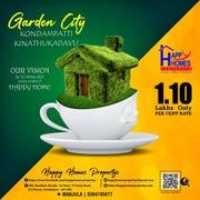 Best plots for sale near kinathukadavu kondampatti for investment